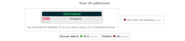 ip leak test expressvpn singapore