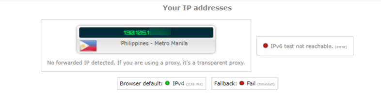 ip leak test no vpn