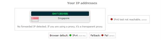 ip leak test nordvpn singapore