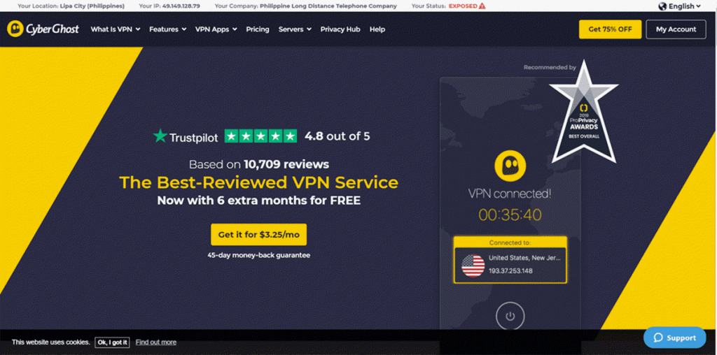 CyberGhost VPN Review, Coupon Code & Free Trial