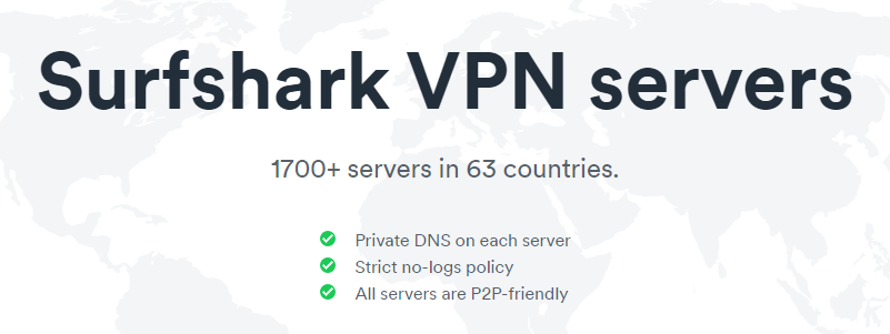 Surfshark VPN Servers