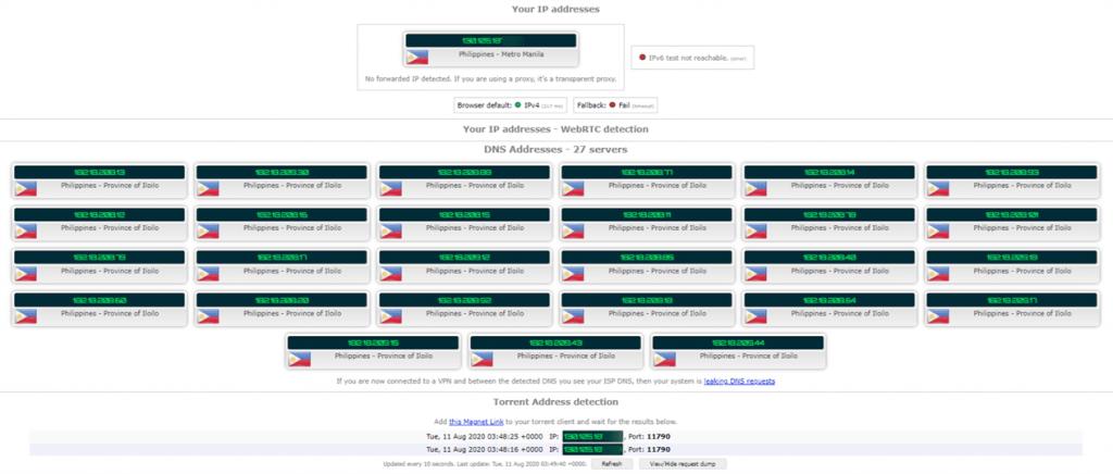Torrenting Leak Test - No VPN