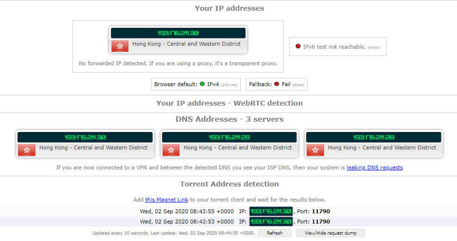 Torrenting Leak Test – ExpressVPN Hong Kong