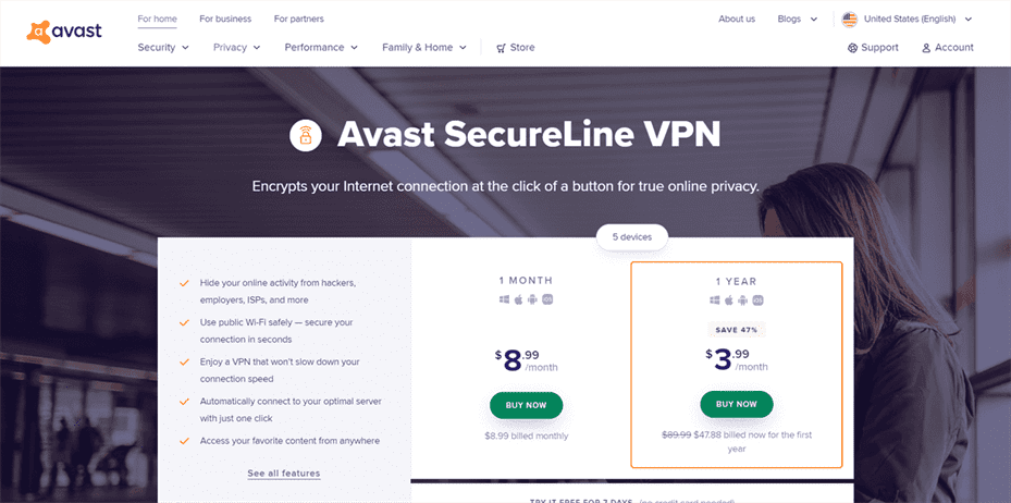 Avast SecureLine VPN Review, Coupon Code & Free Trial