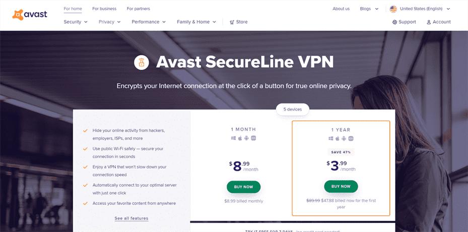 Install Avast VPN