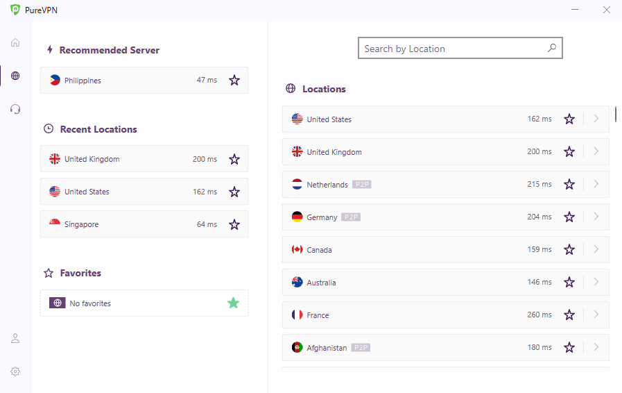 PureVPN Netflix Servers