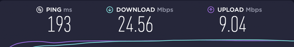 Speed Test – PIA Singapore