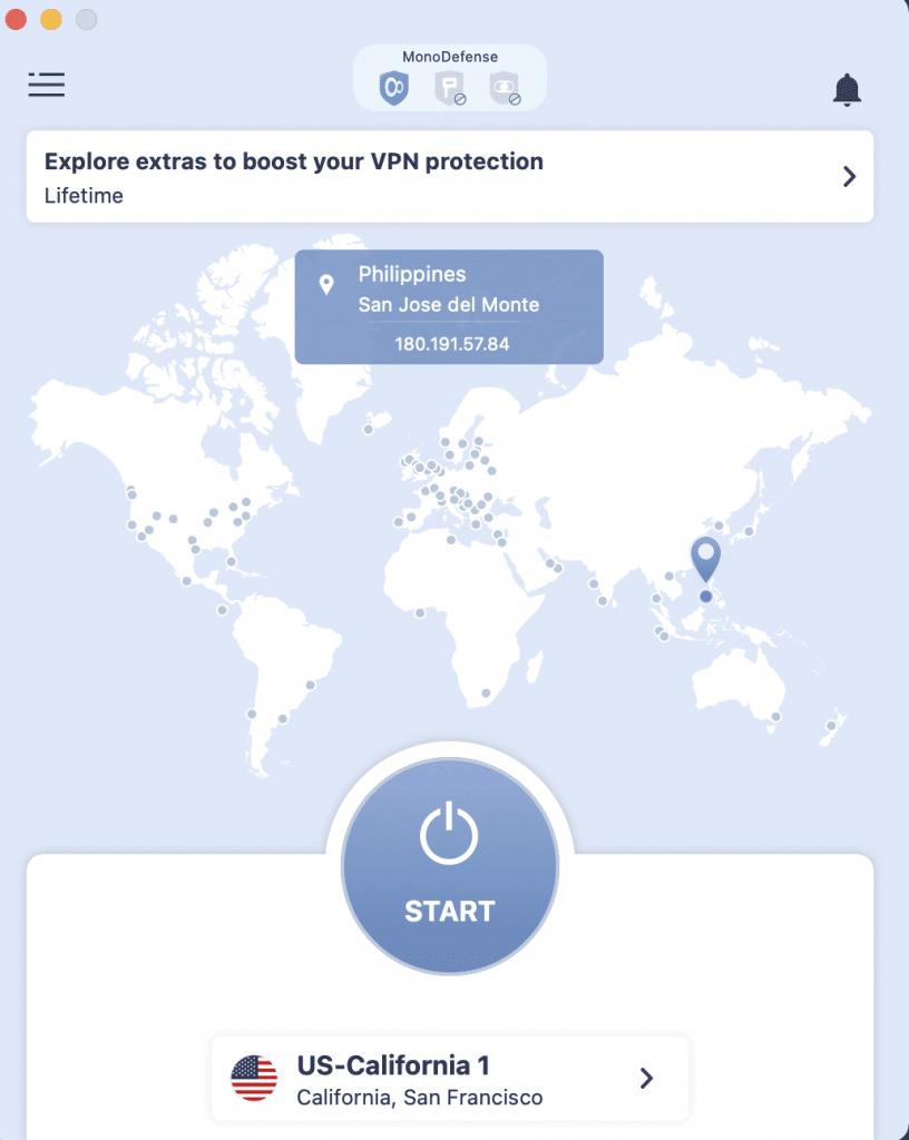 Interface - VPN Unlimited 1
