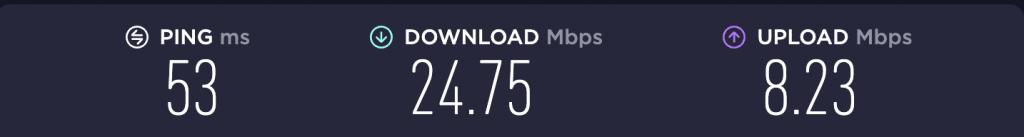 Speed Test – PureVPN Singapore