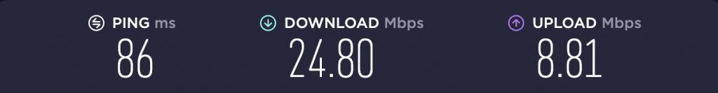 Speed Test – TunnelBear Singapore