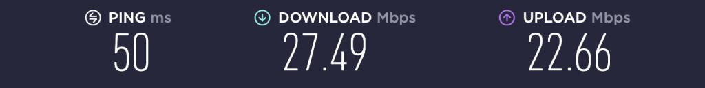 Speed Test – VPN Unlimited Singapore