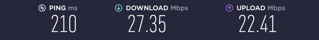 Speed Test – VPN Unlimited US