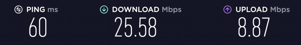 Speed Test – VyprVPN Singapore