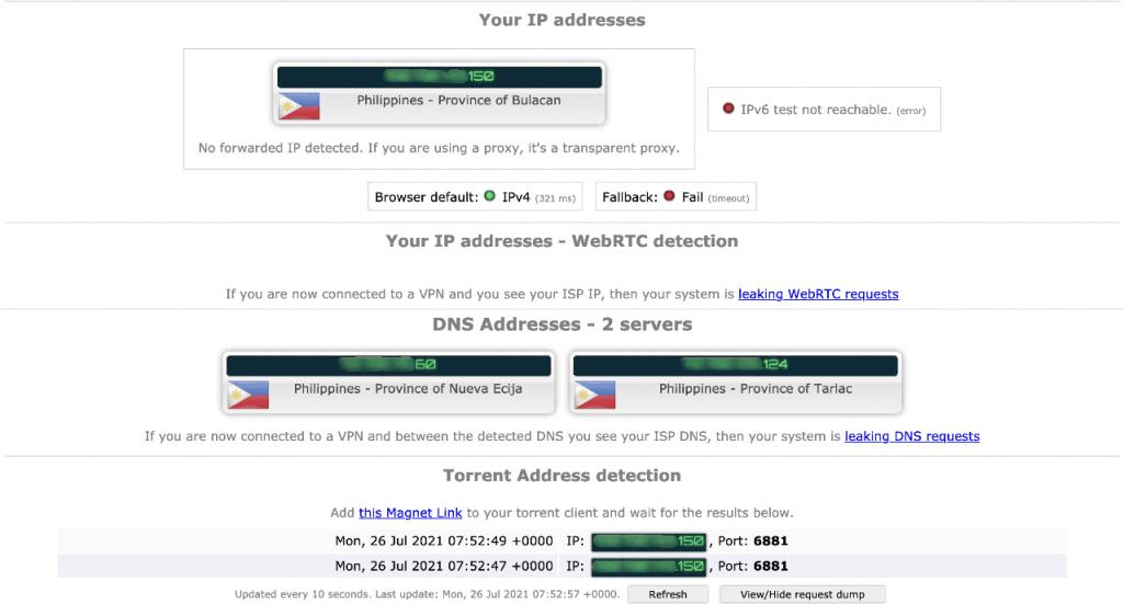 Torrenting Leak Test – No VPN